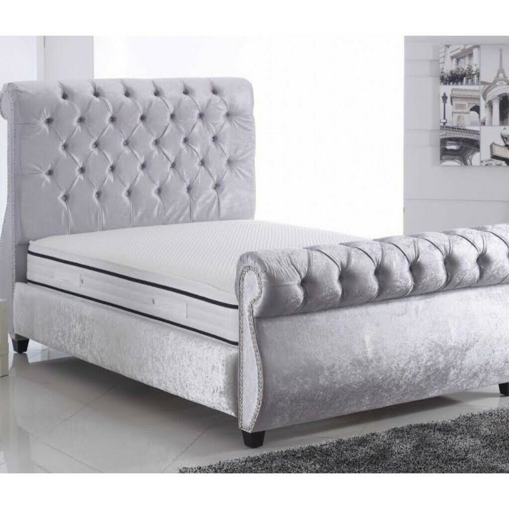 DEAL OF THE DAY GET NOW STYLISH FINISHING SWAN STYLISH BED IN DOUBLE KING SIZE BED FRAME