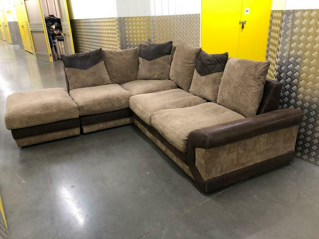 DFS L shape sofa with stool, Free delivery