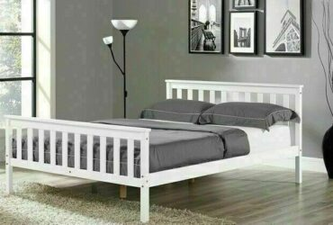 *14-DAY MONEY BACK GUARANTEE! **A1 Kingsize Wooden Bed with Orthopaedic Mattress – NEXT DAY DELIVERY