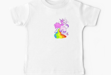 Unicorn Horse Doing pipy Baby T-Shirt