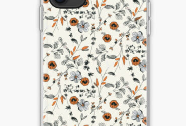Orange Flower Pattern iPhone Case & Cover
