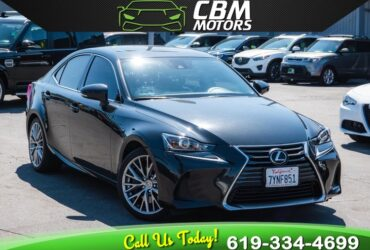 2017 LEXUS IS 200T TURBOCHARGED W/ MOONROOF/ BACKUP CAMERA/ LOW MILES