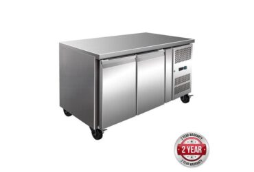 GN2100TN TROPICALISED 2 Door Gastronome Bench Fridge