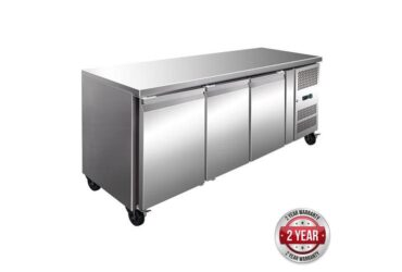 GN3100TN TROPICALISED 3 Door Gastronome Bench Fridge