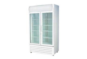 LG-1000GE Large Two Glass Door Colourbond Upright Drink Fridge