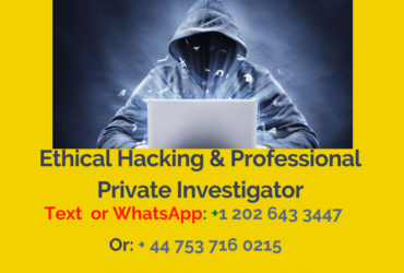 Ethical Hacking & A Professional Private  Investigating Service