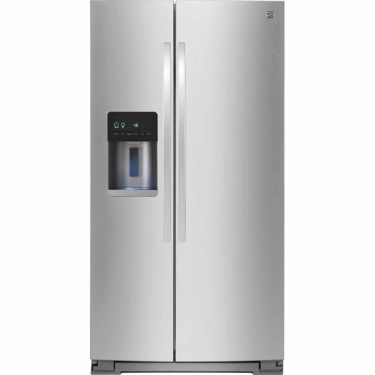 Kenmore 51783 21 cu. ft. Counter-Depth Side-by-Side Refrigerator – Stainless Steel