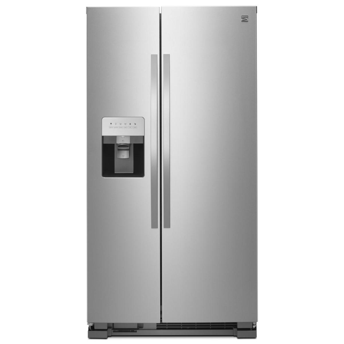 Kenmore 50045 25 cu. ft. Side-by-Side Fingerprint Resistant Refrigerator with Ice & Water Dispenser – Stainless Steel