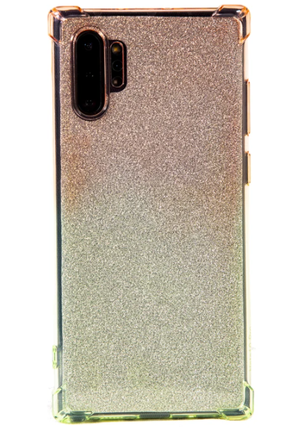 GLITTER BOMB ORANGE AND GREEN PHONE CASE (IPHONE AND SAMSUNG)