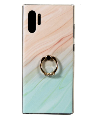 3 STONE DIAMOND RING ORANGE AND GREEN PHONE CASE (IPHONE AND SAMSUNG)