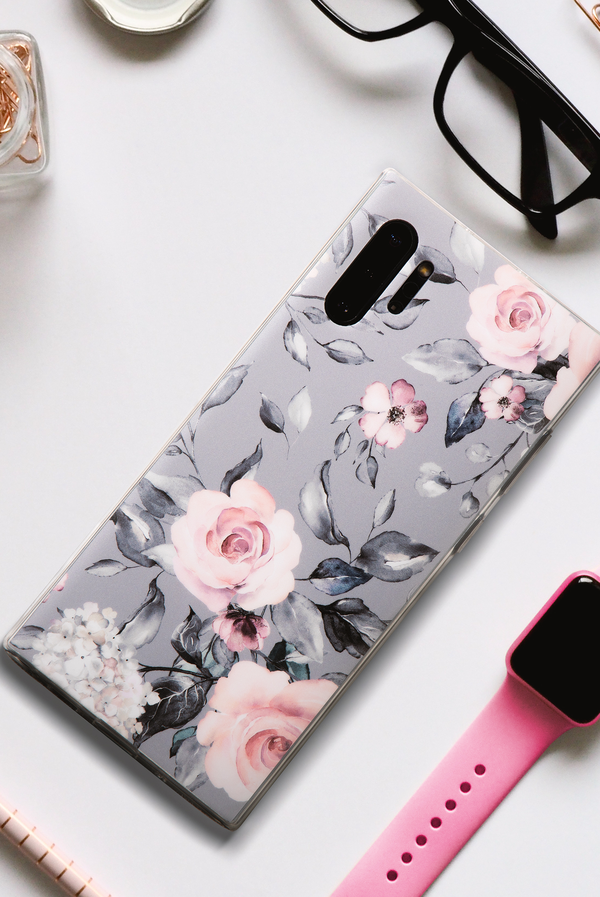 PARADISE ROSE DARK GRAY PHONE CASE (IPHONE AND SAMSUNG)