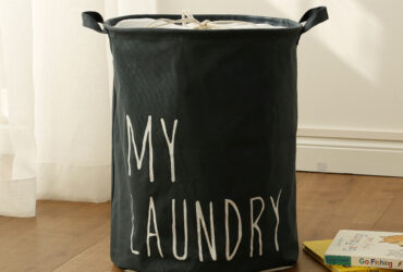 Canvas Cotton Cloth Laundry Basket
