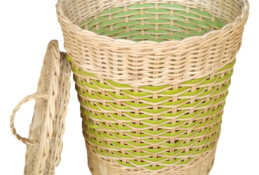 Laundry Basket Trash Basket from Rattan