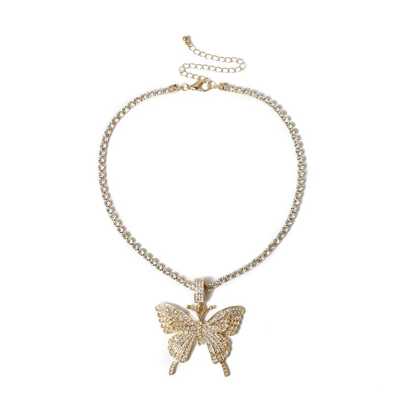 Statment Big Butterfly Pendant Necklace Hip Hop