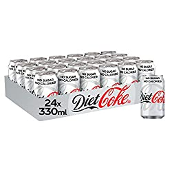Diet Coke Fizzy Drinks 24 x 330ml Cans