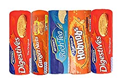 Mixed Assortment of McVitie's Classic Biscuits. Digestives, Rich Tea, Ginger Nuts & Hobnobs