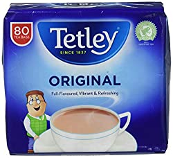 Tetley Original Tea, Pack of 6, 480 Tea Bags Total