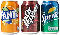 30 Cans Variety Pack 10x330ml Cans Of Dr Pepper, 10x330ml Cans Of Fanta, 10x330ml Cans Of Sprite