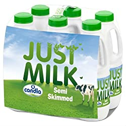 Just Milk Semi-Skimmed 6 x 1L (Case of 2)