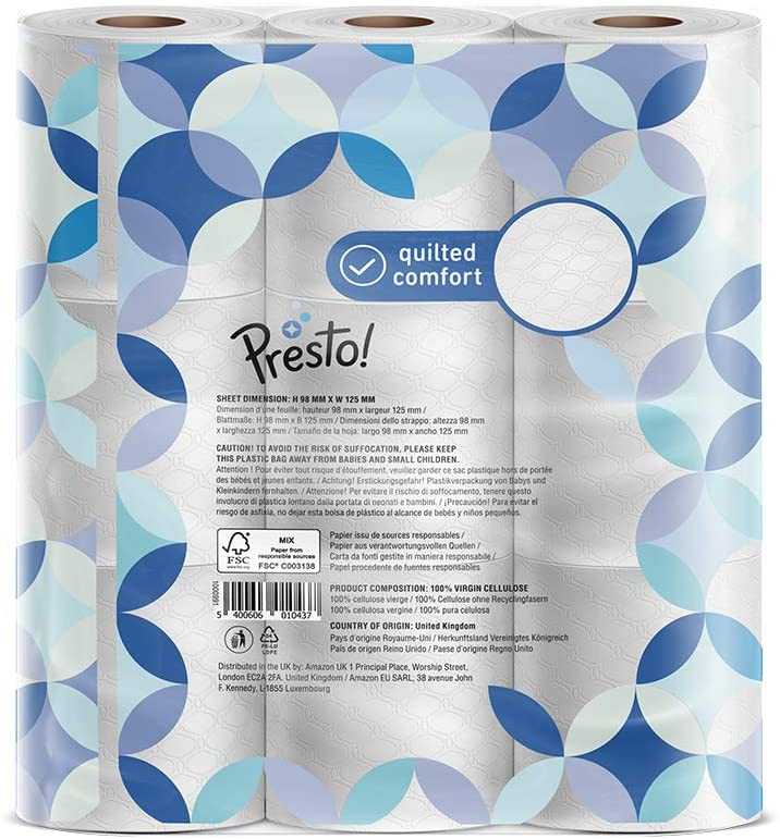 Presto! 3-Ply Quilted Toilet