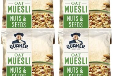 Quaker Oat Nuts and Seeds Muesli, 600 g (Pack of 4)