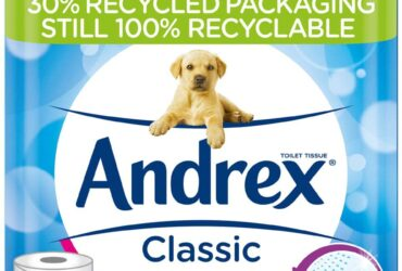 Andrex Classic Clean Toilet Tissue, 45 Toilet Rolls FREE Delivery