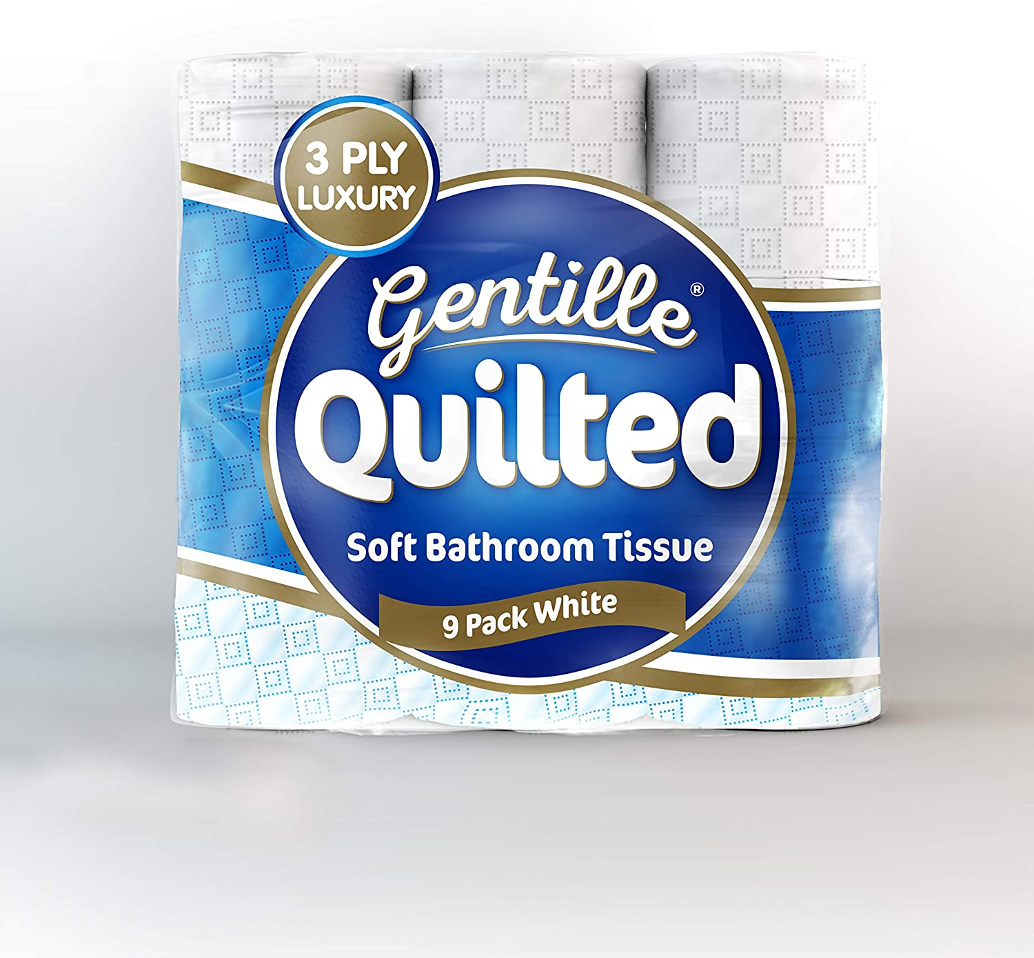 108 Rolls Gentille Quilted 3 ply Luxury Toilet Tissue