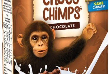 Breakfast Cereal, Choco Chimps, Pack of 4 x 284 g