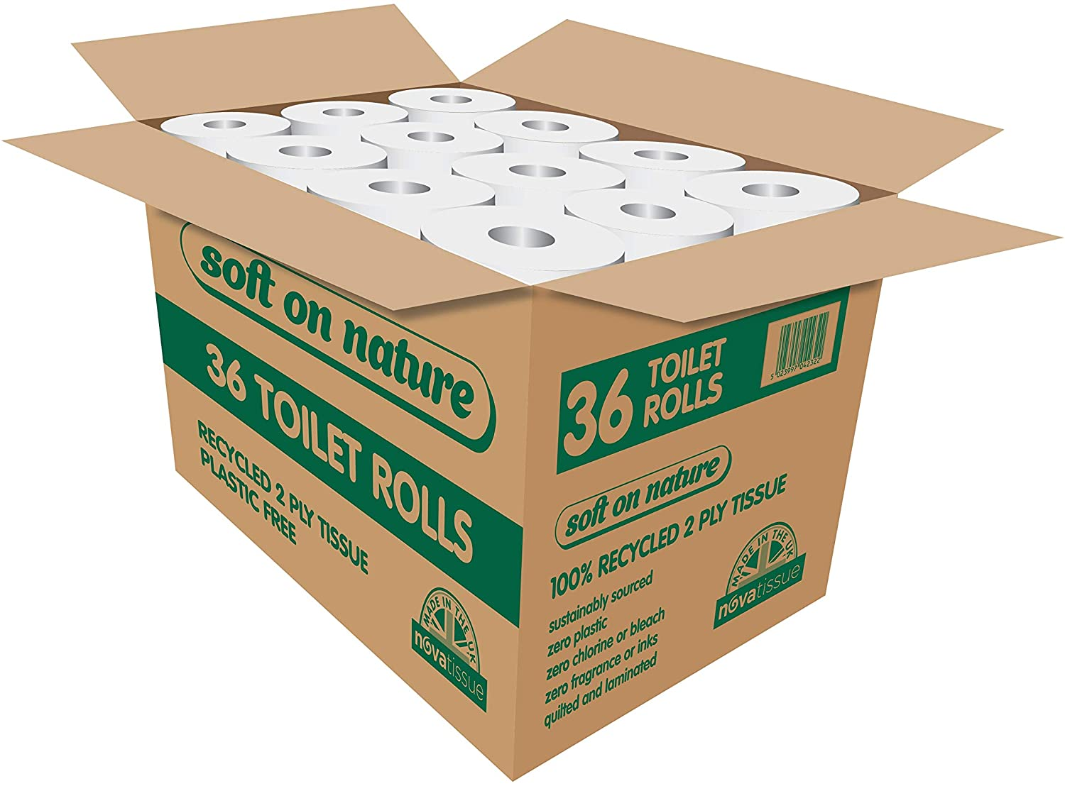 36 Toilet Rolls Recycled Sustainable Tissue