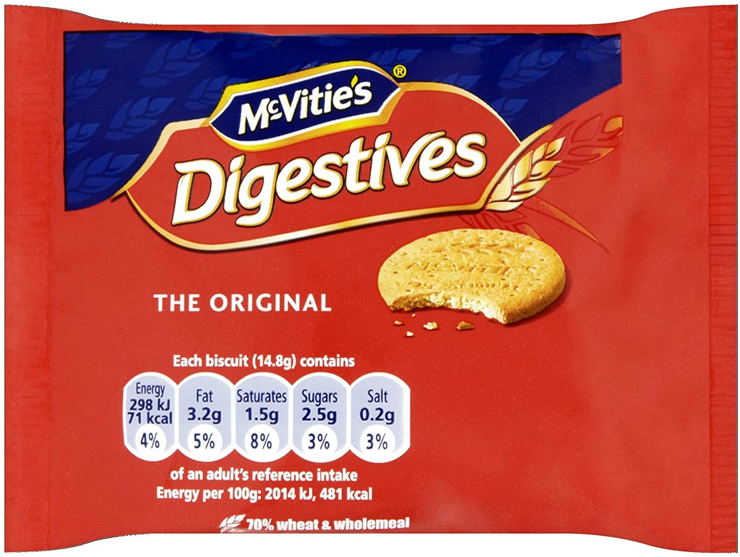 McVities Digestives Portion Packs (Pack of 48)