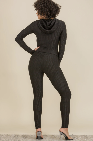 Look But Don't Touch Bubble Hoodie w/ Leggings (2 PC Set)