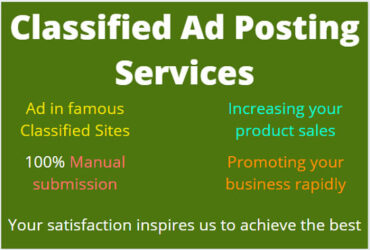 I will do high quality free classified ad posting around-the-world
