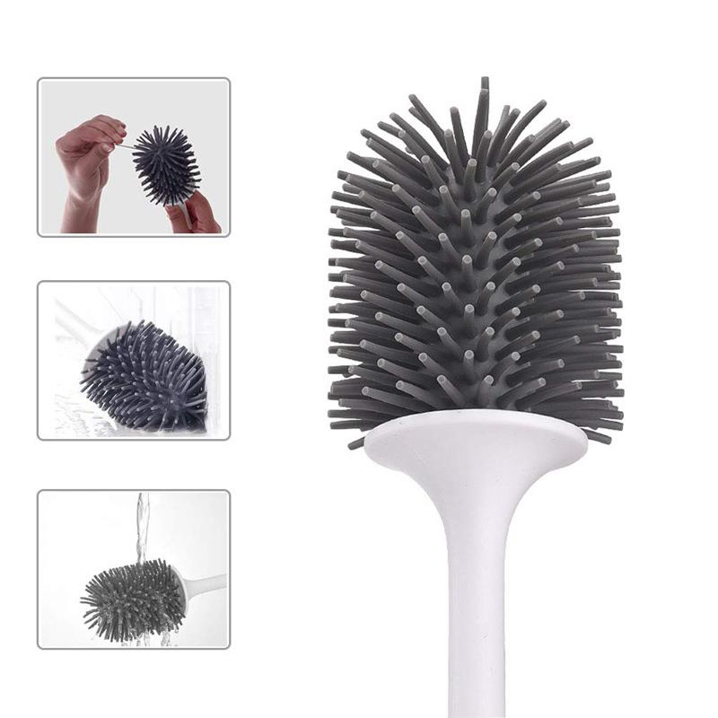 Silicone with Holder Handle Soft Bristles