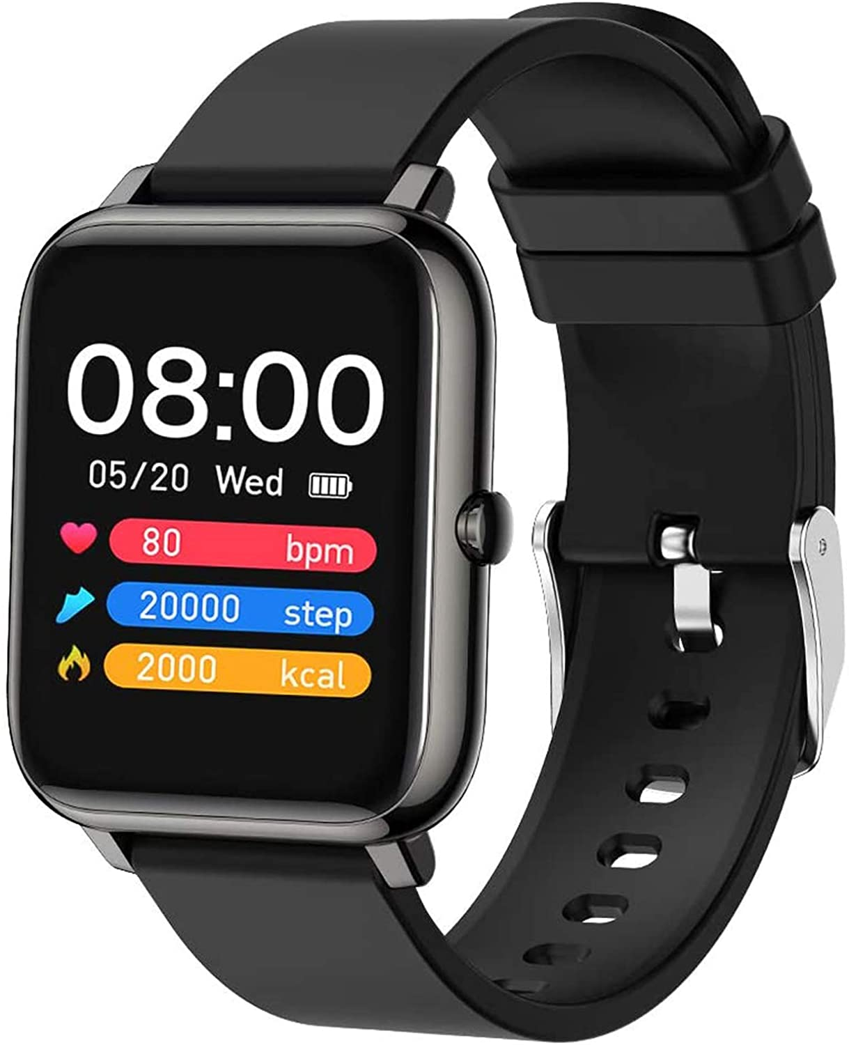 Popglory Smart Watch, Fitness Tracker with Blood Oxygen.