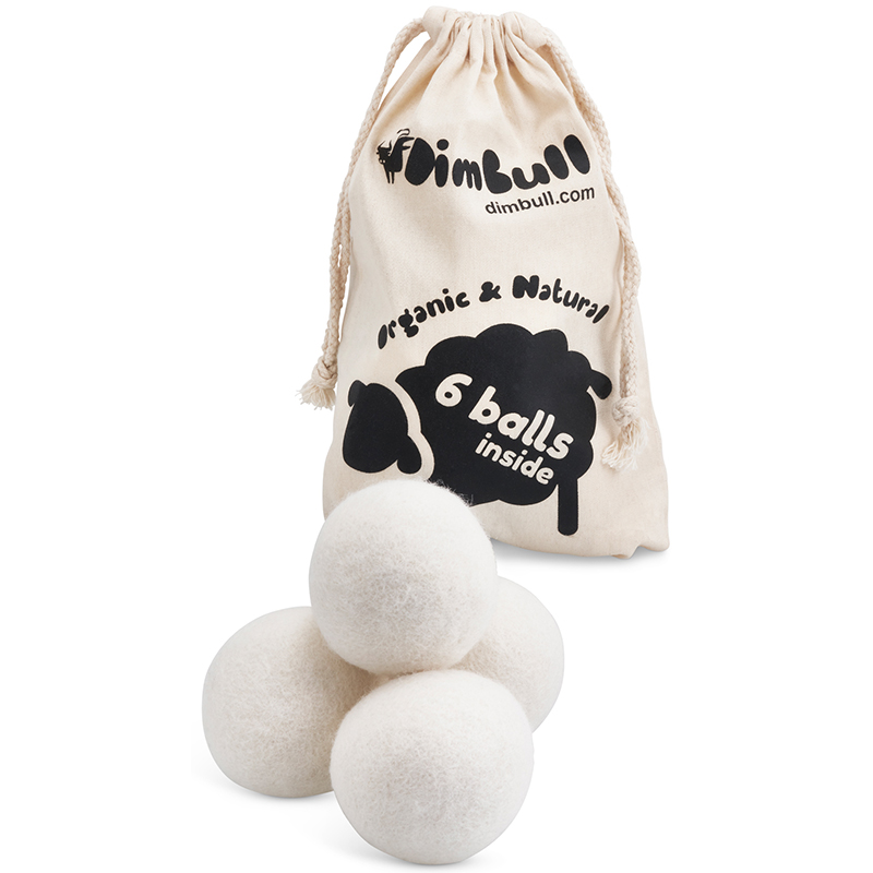 6 Packs Laundry Wool Dryer Ball and Lavender Oils For Clothes