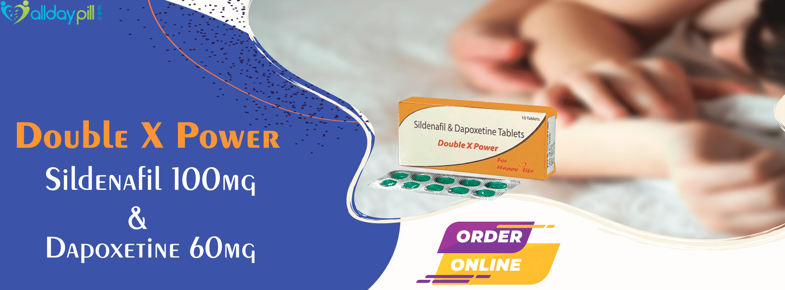 Sildenafil Dapoxetine Tablets Online l Double x power