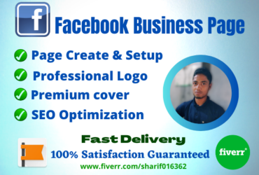 I will create and promote facebook business page or fan page