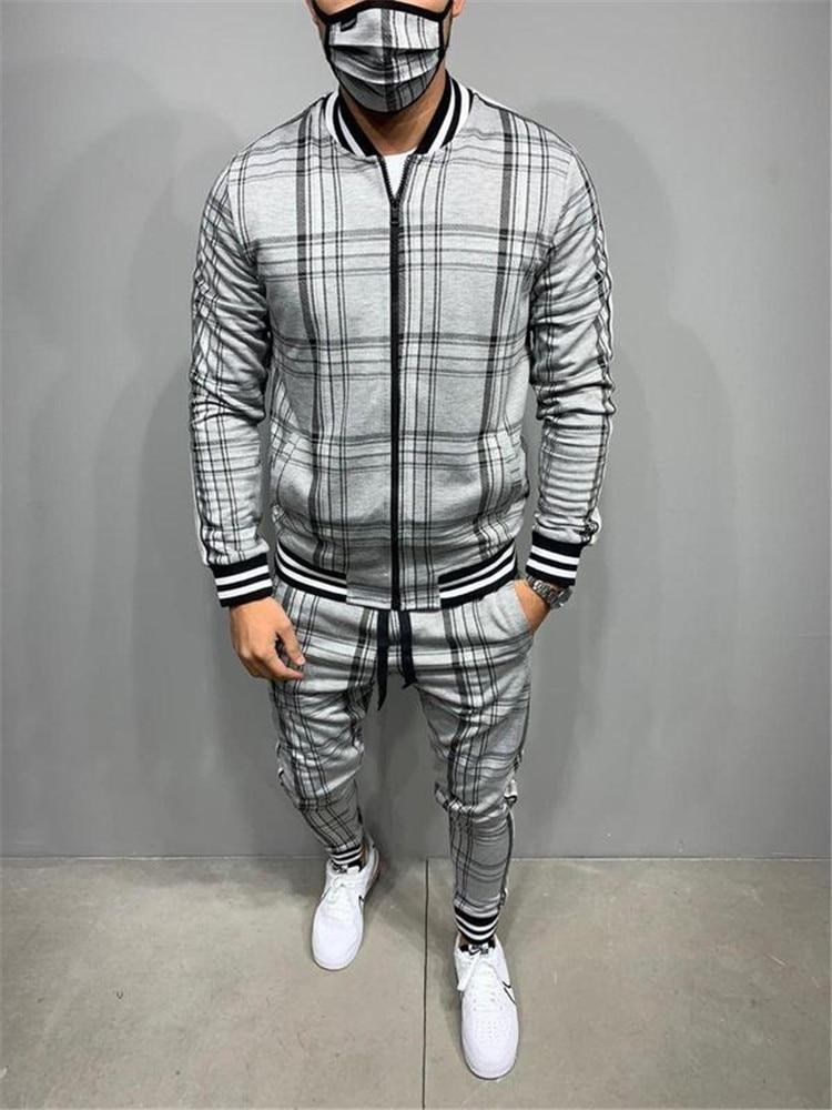 Man Grey Fashion Tracksuit