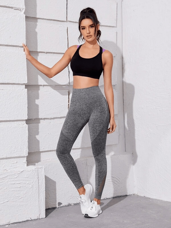 Cut Out Solid Sports Leggings