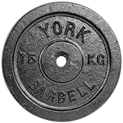 York Fitness 15kg Single Standard Cast Iron Disc