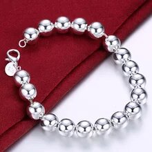 DOTEFFIL 925 Sterling Silver Chain Bracelet For Woman Charm
