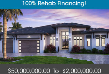 FIX & FLIP FUNDING – 90% PURCHASE & 100% REHAB – Up To $2,000,000.00 – No Income Docs!