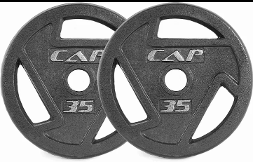 """CAP CAST IRON 2"""" OLYMPIC GRIP PLATE (10,25,35,45 LBS) PAIRS"""