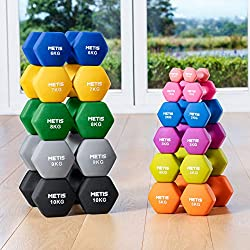 METIS Neoprene Hand Dumbbell Weights Set