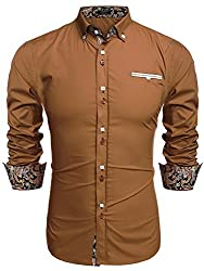 COOFANDY Men's Fashion Slim Fit Dress Shirt