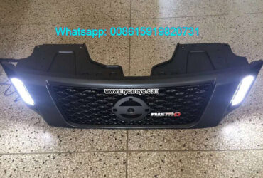 Nissan NP300 Navara Grills Car Front Bumper Grille With LED Light