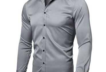 INFLATION Men & Dress Shirts Slim Fit Long Sleeve