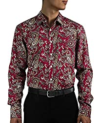 HISDERN Men's Casual Floral Shirts Long Sleeve