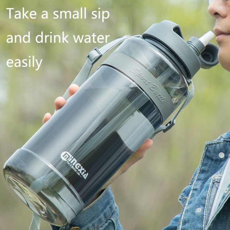 Plastic Water Cups With Straw Outdoor Portable Sports Kettle,